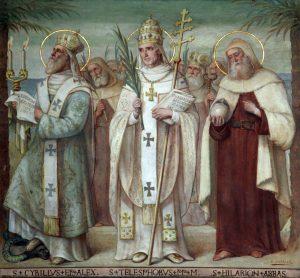 Painting of three catholic Saints