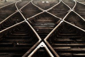railway lines crossing