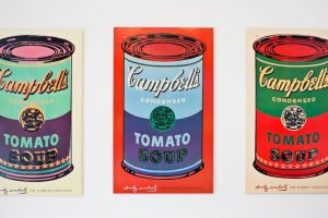 Warhol's Campbell soup cans