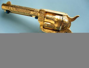 Antique gold hand gun