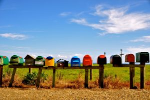 line-of-mailboxes-in-rural-setting