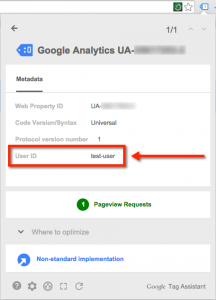 Validating User ID tracking in Google Tag Assistant